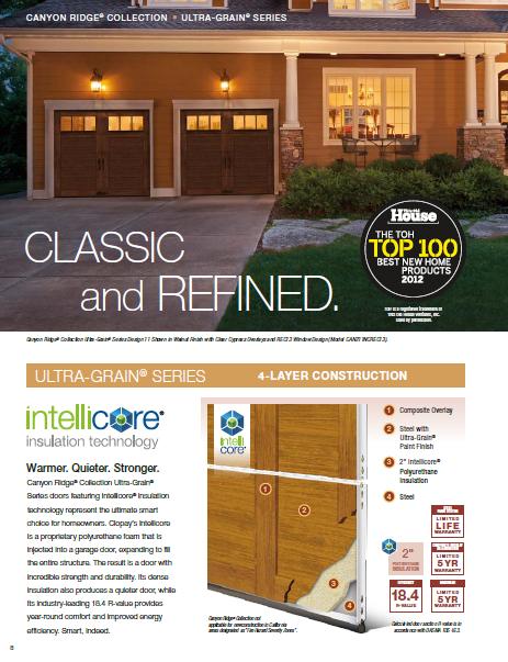 Canyon Ridge Ultra Grain Series Garage Doors Brochure