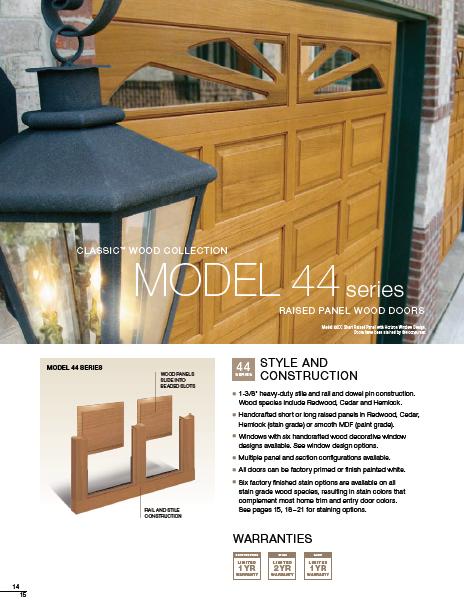 Classic Wood Collection Garage Doors Brochure