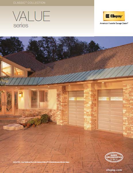 Value Series Garage Doors Brochure